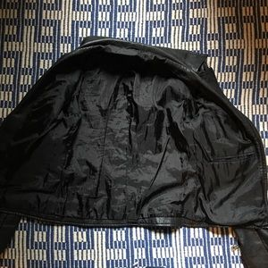 Jackets & Coats - Fitted Black Lamb Leather Moto Jacket w/ Zippers